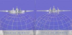 Carton  BLEU baptême Biarritz b